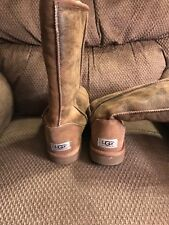 ❤️ AUTHENTIC TALL UGG BOOTS- WORN ONCE- Size 7- DISTRESSED TAN COLOR ❤️
