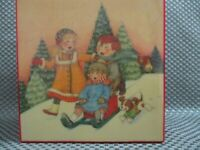 "Mary Engelbreit 1992 ""Sled full of Fun"" music box plays ""Joy to the World"""