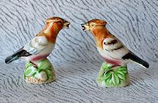 VTG Jay Bird Handpainted Salt & Pepper Shakers Ceramic Cork Bottom, Japan