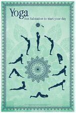 Yoga - Sun Salutation POSTER 61x91cm NEW * start your day moves diagram poses