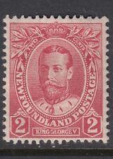 NEWFOUNDLAND 1911-16 SG118 2c carmine Mounted mint