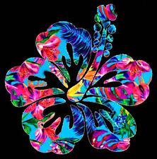 "Hibiscus Tropical Flower Decal Sticker - Window, Water Bottle, Laptop,Yeti - 4"""