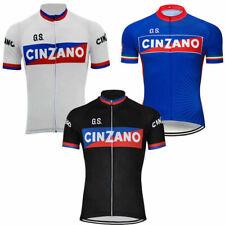 Retro 1970 CINZANO Cycling Jersey Vintage Short Sleeve Bike Pro Clothing Bicycle