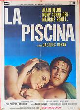 MANIFESTO 2F, LA PISCINA La piscine ROMY SCHNEIDER, DELON, DERAY, AFFICHE POSTER