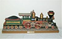 1978 Burwood SYROCO Wall Plaque 2129 N.PERRY 1867 LOCOMOTIVE Train New Jersey RR