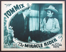 THE MIRACLE RIDER CHAP. 3 TOM MIX WESTERN SERIAL 1935 LOBBY CARD