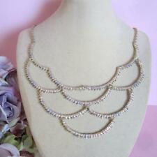 Alexis Bittar Crystal Studded Scalloped Spur Bib Necklace NWT