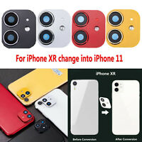 Pour iPhone XR Seconds Change iPhone 11 Camera Len Case Protective Ring Cover FR
