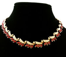 Vintage Signed A&S Atwood & Sawyer Collectible Ruby Necklace at Dallas TV Series