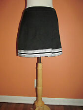 GTM Sportswear Womens Size M Black & Silver Cheerleader Skirt