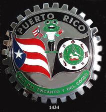 CAR GRILLE BADGES - PUERTO RICO (FLAG , FROG, & SHIELD)