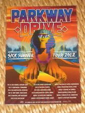 PARKWAY DRIVE  -  2012  SICK SUMMER  AUSTRALIAN  TOUR  -  PROMO TOUR POSTER