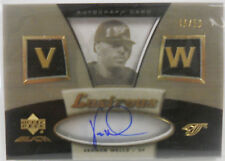 2007 UD Black Vernon Wells SP  Lustrous Auto Autograph Insert # 48 / 50