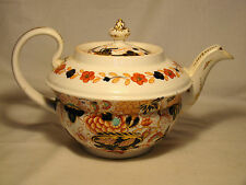 Early English Imari Porcelain Teapot & Cover late 18th-early 19th c
