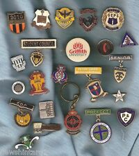 #D82. LOT OF 23 MOSTLY AUSTRALIAN SCHOOL RELATED METAL BADGES