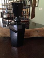 A Vintage Modernist Crafted  Black Perfume Bottle/ Facet Glass Stopper,new tall