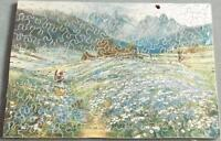 Wooden Jigsaw Puzzle Field of Daisies Vintage 1920s