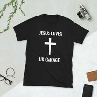 Jesus Loves UK Garage Black T-Shirt Sizes SMALL - 3XL *BRAND NEW WITH TAGS*