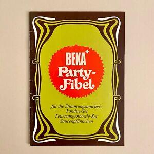 Vintage Lebensmittel-Werbung ALT 17x12cm 31S. BEKA Party-Fibel Rezepte-Heft RAR