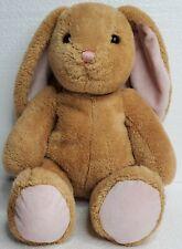"""BUILD A BEAR 15"""" Light Brown Plush Bunny Rabbit Pink Nose BABW"""