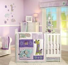 Carter's Zoo Collection  5 Piece Baby Crib Bedding Set W Mobile  - Jungle/Safari