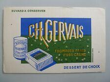 FROMAGE FRAIS CHARLES GERVAIS / BUVARD PUBLICITAIRE  ANCIEN