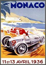 VINTAGE MONACO GRAND PRIX  A1 SIZE PRINT -poster  FOR YOUR FRAME