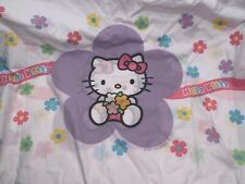 Vintage {Hello Kitty} Flowers 🌸 Complete Twin Sheet Set: Pillowcase Flat Fitted