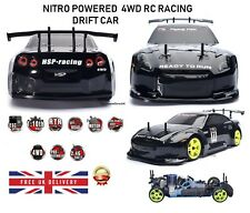RC Car 4WD Nitro Gas Power Remote Control Car 1:10 Scale Road Drift Racing HSP