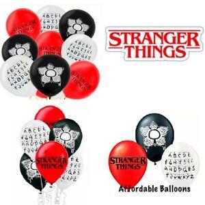 Stranger Things Latex Balloons X 6. Stranger Things Party Birthday Balloons