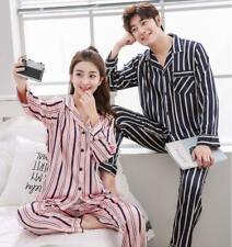 Men Women Silk Satin Pajamas Sleepwear Sets Nightgown Robe Loungewear Homewear