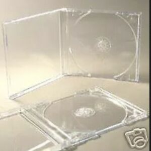 25 CD JEWEL CASES COMPLETE WITH CLEAR TRAYS *BRAND NEW*