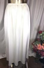 Vassarette White/Ivory Long half Slip Size L # 052626