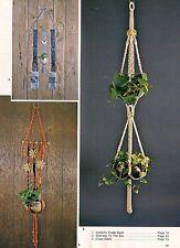 Towel Rack & Plant Hanger Variations -Craft Book: #MM111 Macrame Artistry