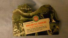 Vintage Sinclair H-C Gasoline Brochure With Dinosaur And Gas Pumps RARE