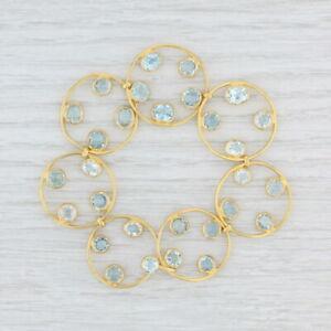 "Marie-Helene de Taillac 10ctw Aquamarine Bracelet 22k Yellow Gold 6.5"""