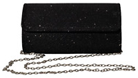 Womens Evening Bag Clutch Purse Glitter Party Wedding Handbag with Chain NEW