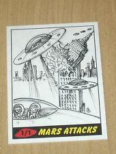 2012 Topps Heritage MARS ATTACKS sketch card 1/1 Neil Camera