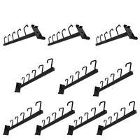 "10 Pc GLOSS BLACK Waterfall 5 J Hook Gridwall Hooks 17.5"" Long Faceout Retail"