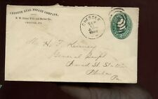 Us Mid-Atlantic Stationery Advertising Cover (Chester Real Estate) 1889 Chester