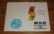 Original 1963 MG MGB Sales Brochure 63