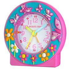 Kinderwecker Wecker Jacques Farel Schmetterling Blumen rosa leise ACN6969 NEU