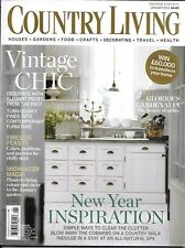 Country Living Magazine Vintage Chic Contemporary Furniture Cakes Pastries 2013