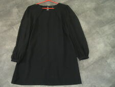SIZE 18 NEXT BLACK SHIFT DRESS WITH LONG CHIFFON SLEEVES