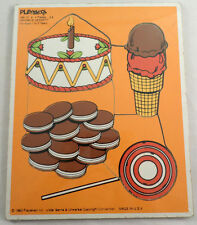 Playskool Play School Vintage Wodden Puzzle Favorite Dessert Cake Cookie Treats