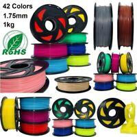 3D Printer Filament 1.75mm 1kg ABS/ PLA/ Carbon Fiber/ Wood/ Red Copper, Factory