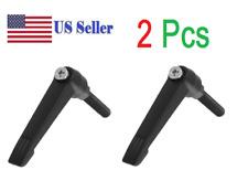 2 Pcs Machinery M6 x 30mm Threaded Knob Adjustable Handle Lever