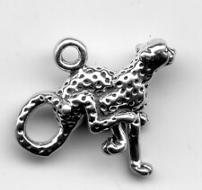 Sterling silver Cheetah 3D Charm2 Grams 18x12mm 8415H