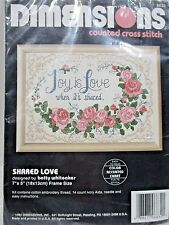 """Dimensions 6632 <> """"Shared Love"""" <>Counted Cross Stitch_1992"""