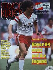 Programm 1991/92 Bayer 04 Leverkusen - Mönchengladbach